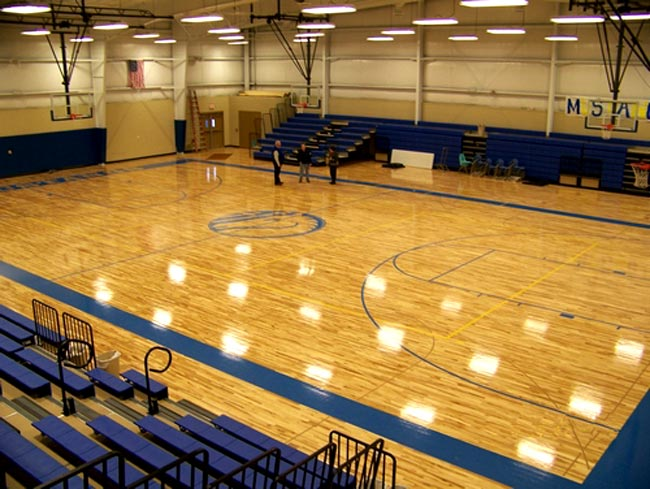 Hardwood Basketball Courts Northern Hardwood Company