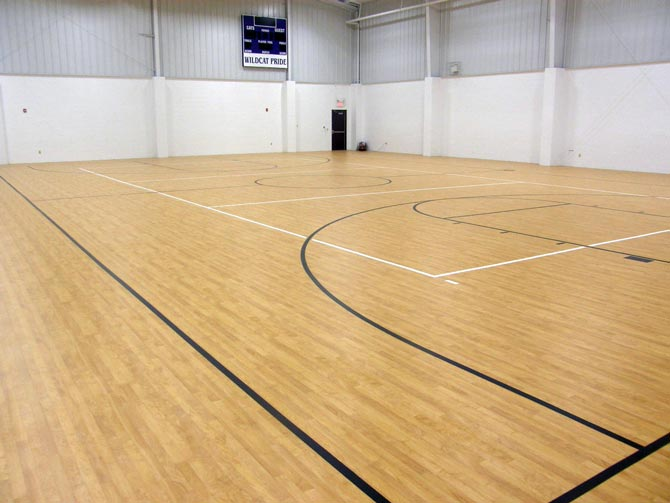 Vinyl sports flooring northern hardwood company for Hardwood flooring company
